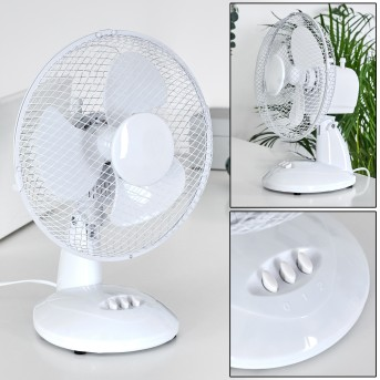 SOPOT electric desk fan chrome, white
