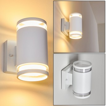 MACOUPIN Outdoor Wall Light white, 2-light sources