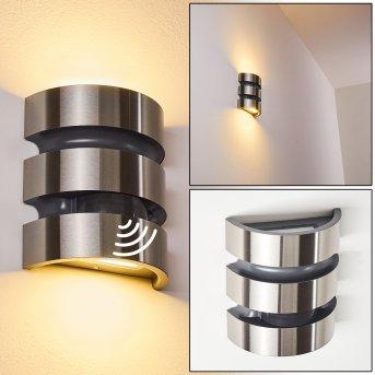KOLDING Outdoor Wall Light LED black, stainless steel, 1-light source, Motion sensor
