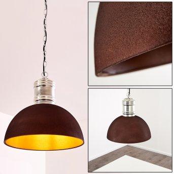 KINZUA Pendant Light rust-coloured, 1-light source