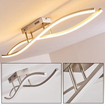 Ceiling light Atina LED matt nickel, 1-light source