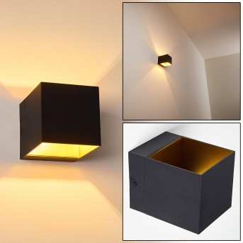 Svanskog Wall Light black-gold, 1-light source
