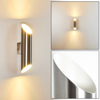 SAULCY Outdoor Wall Light LED stainless steel, 2-light sources