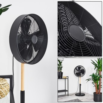 MARKHAM fan black, light wood