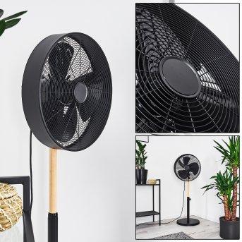 MARKHAM fan black, Light wood
