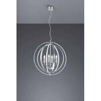Trio CANDELA chandelier aluminium, 4-light sources
