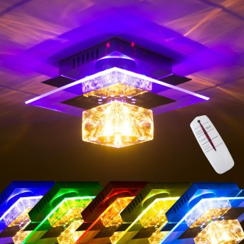Christy wall light chrome, transparent, clear, 1-light source, Colour changer
