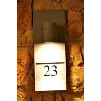 Konstsmide MODENA house number light grey, 1-light source