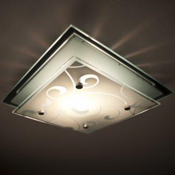 Globo Dia ceiling light chrome, white, 1-light source