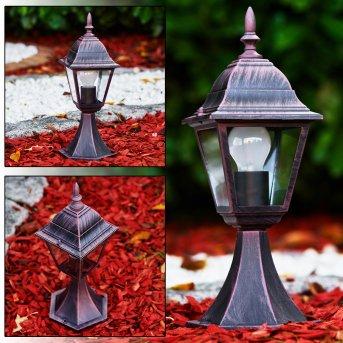 MURTO pedestal light rust-coloured, 1-light source