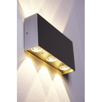 B-Leuchten Stream wall light LED aluminium, 6-light sources