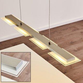 BEAVER Pendant Light LED brushed steel, 4-light sources