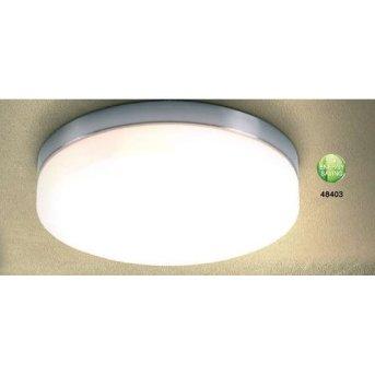 Globo OPAL ceiling light matt nickel, stainless steel, white, 3-light sources