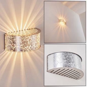 PESARO Wall Light silver, 1-light source