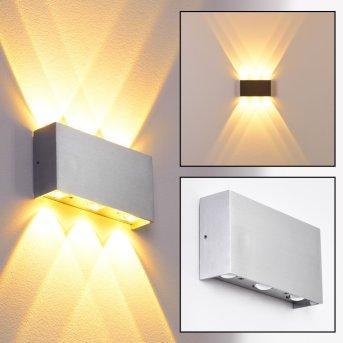 B-Leuchten Lente wall light LED aluminium, 6-light sources