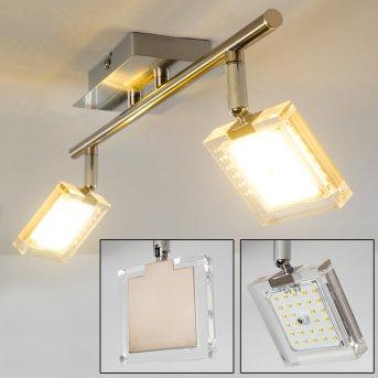Kiruna Ceiling Light LED matt nickel, chrome, 2-light sources
