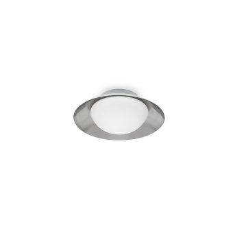 Faro Barcelona Side Ceiling Light matt nickel, white, 1-light source