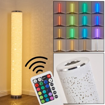 TUMBA Floor Lamp LED white, 1-light source, Remote control, Colour changer