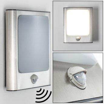 KIMOLA outdoor wall light LED matt nickel, 1-light source, Motion sensor