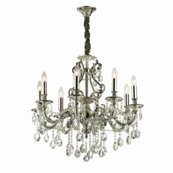 Ideal Lux GIOCONDA Chandelier silver, 8-light sources