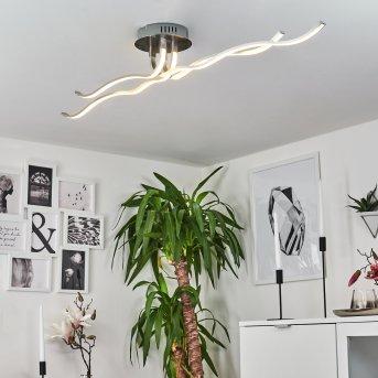 CORATO Ceiling Light LED matt nickel, 1-light source