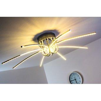 Wofi CRUX ceiling light LED chrome, 1-light source