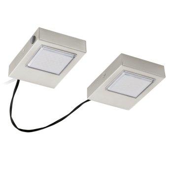 Eglo LAVAIO recessed kitchen light LED matt nickel, 2-light sources