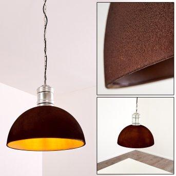 KINZUA Pendant Light silver, rust-coloured, 1-light source
