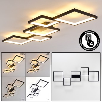 Bacolod Ceiling Light LED black, 1-light source