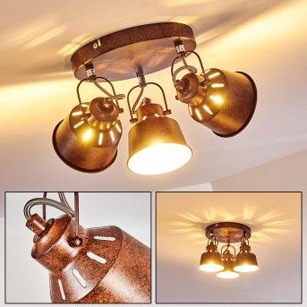 Ceiling Light Safari rust-coloured, 3-light sources