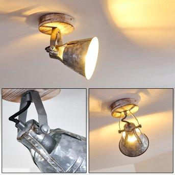 Berkeley Ceiling Light Light wood, galvanized, 1-light source