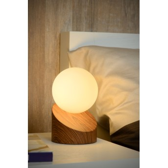 Lucide LEN Table Lamp dark wood, 1-light source