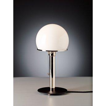 Tecnolumen Wagenfeld 23 Table lamp matt nickel, black, 1-light source