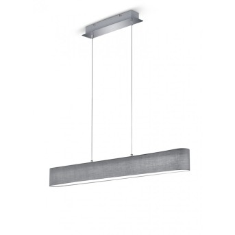 Trio LUGANO pendant light LED grey, 1-light source