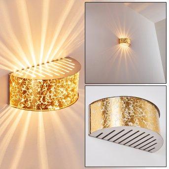 PESARO Wall Light matt nickel, gold, 1-light source