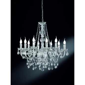 Reality LÜSTER chandelier transparent, clear, 10-light sources