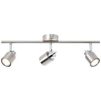 Brilliant ANDRES Ceiling light matt nickel, chrome, 3-light sources