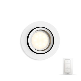 Philips HUE AMBIANCE WHITE MILLISKIN Recessed spotlight, extension white, 1-light source, Remote control
