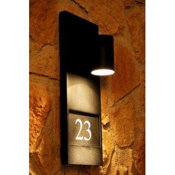 Konstsmide MODENA house number light black, 1-light source