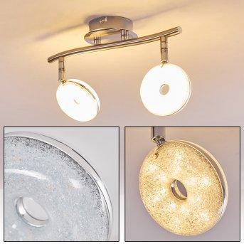 Donot Ceiling Light LED matt nickel, 2-light sources