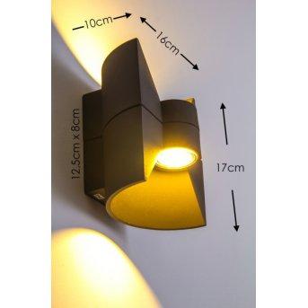 San Jose exterior wall luminaire LED anthracite, 2-light sources