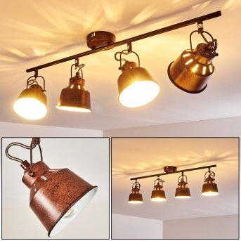 Ceiling Light Safari rust-coloured, 4-light sources