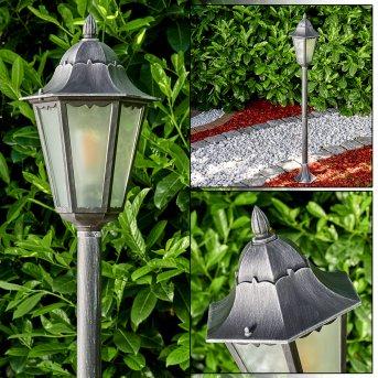 Lignac outdoor Floor Lamp black, silver, 1-light source
