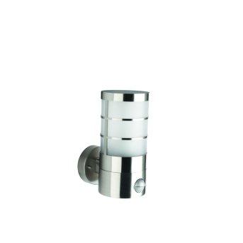 Massive myGarden CALGARY wall light stainless steel, 1-light source, Motion sensor