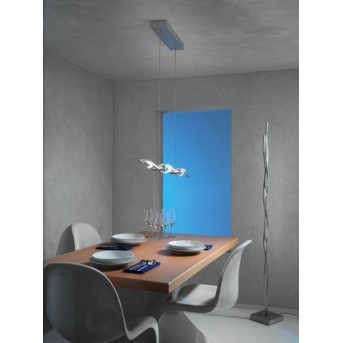 Escale SILK floor lamp LED aluminium, 1-light source