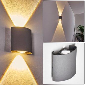 ABAIANG Outdoor Wall Light LED grey, 1-light source