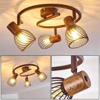 ARJEN Ceiling Light rust-coloured, 3-light sources