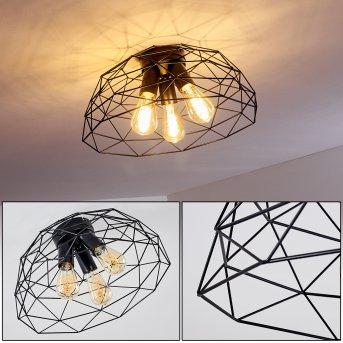 Hajom Ceiling Light black, 3-light sources