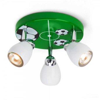 Brilliant Soccer round spotlight green , white, 3-light sources