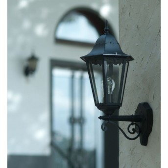 Lutec BRISTOL outdoor wall light black, 1-light source